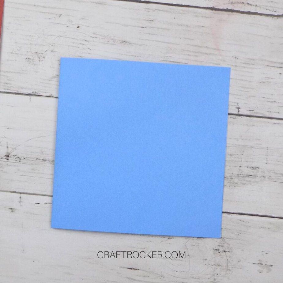 Small Light Blue Card - Craft Rocker
