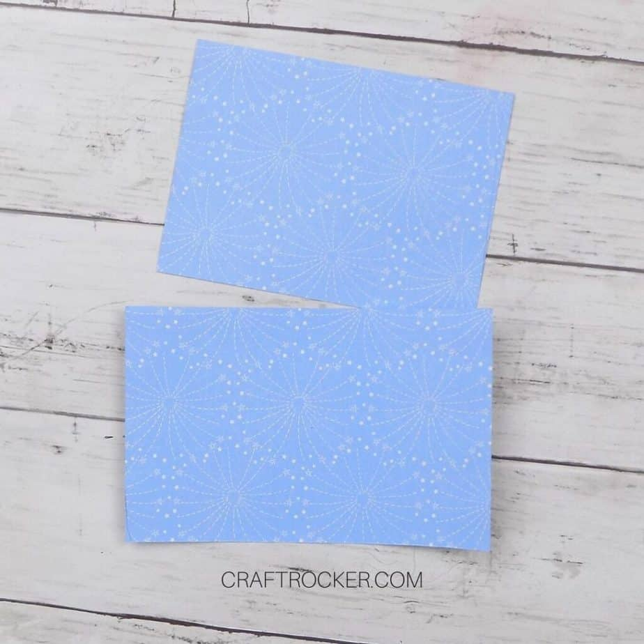 Small Sheets of Blue Fireworks Paper - Craft Rocker