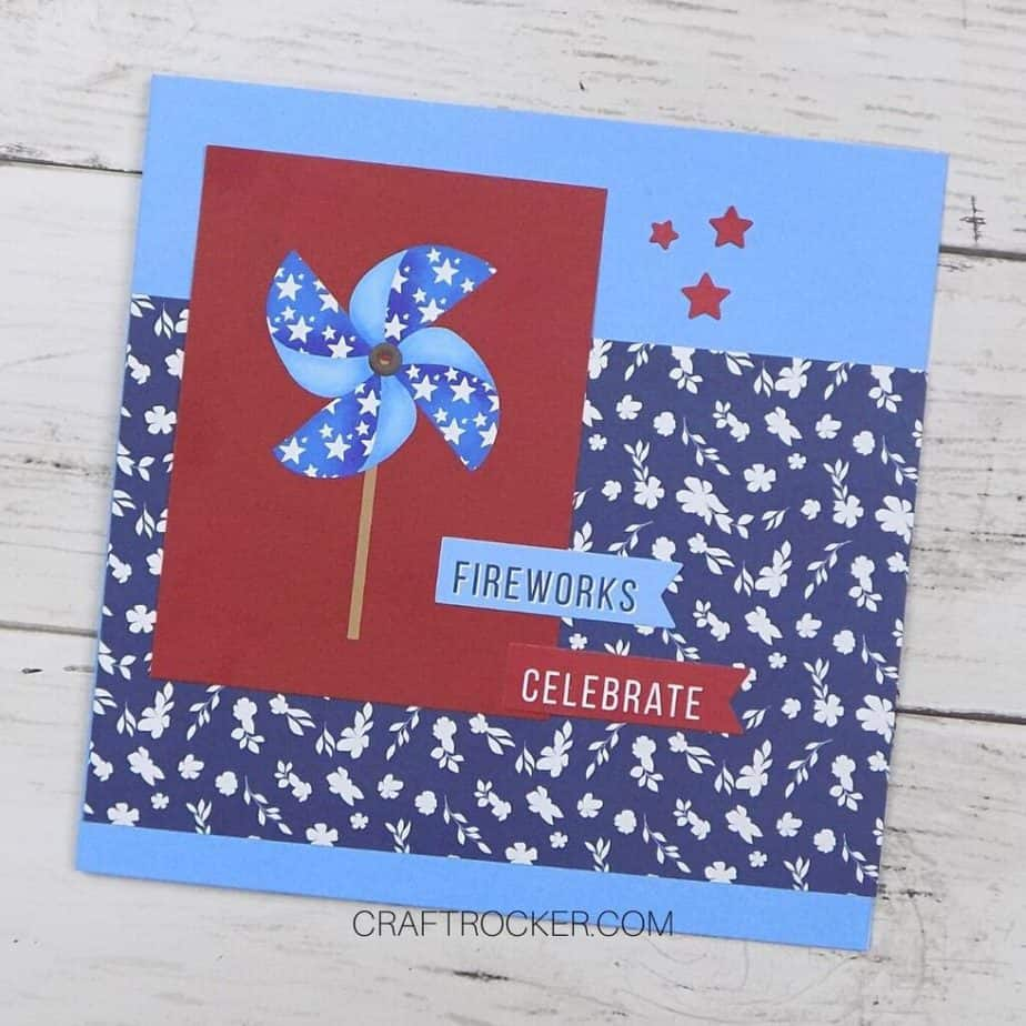 Square Fourth of July Card - Craft Rocker