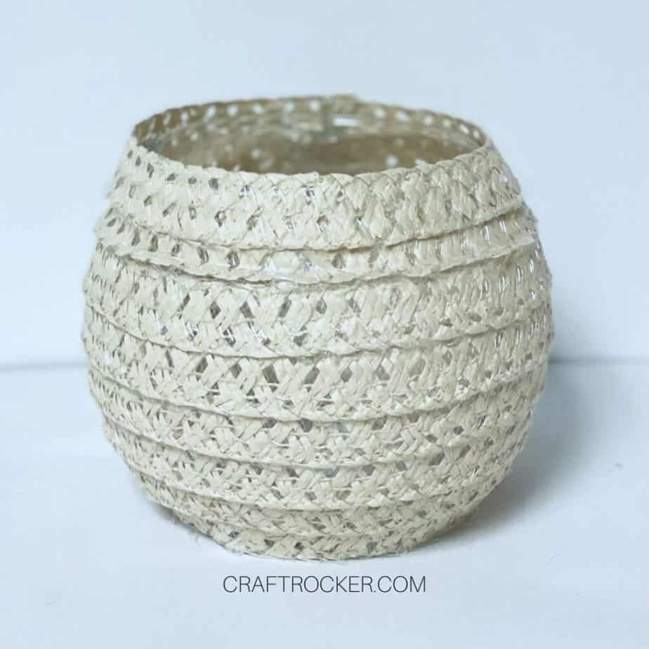 Vase Covered with Sun Hat Pieces - Craft Rocker